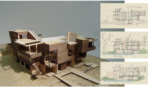 Pin maquetas de arquitectura moderna similarespecializados for Casa moderna maqueta